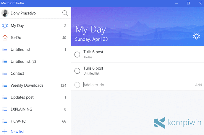my day microsoft to-do