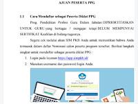 Panduan Mendaftar PPG melalui SIM PKB