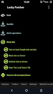 Cara menghilangkan iklan di android dengan lucky pacther
