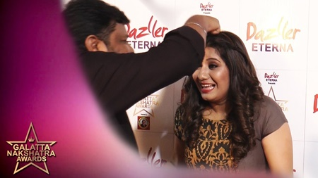 Priyanka தலையில் கொட்டிய Gopinath   Galatta Nakshatra Awards