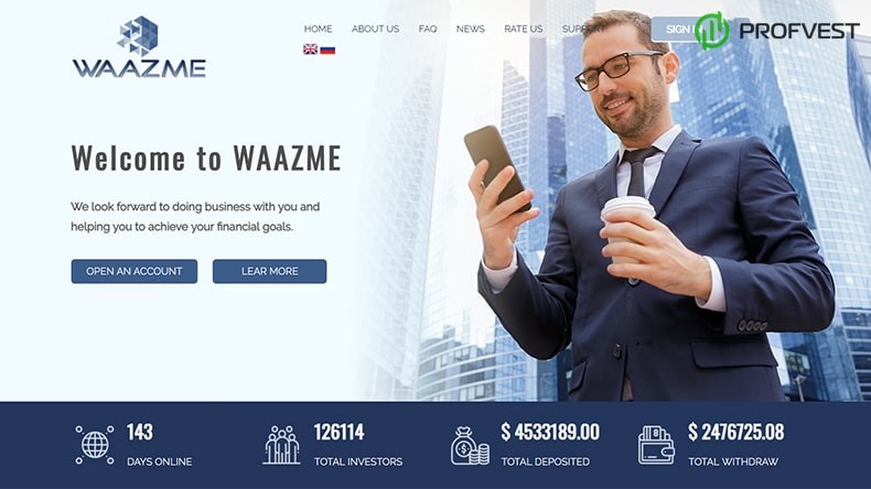 Waazme обзор и отзывы HYIP-проекта