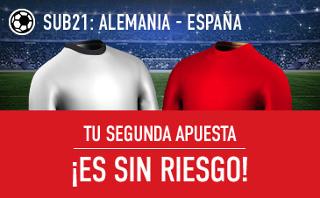 sportium apuesta sin riesgo final eurocopa sub21 Alemania vs España 30 junio