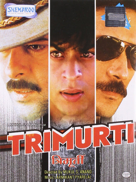 Poster of Trimurti (1995) Full Movie Hindi 720p HDRip ESubs Download