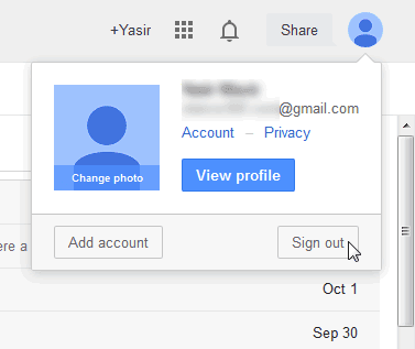 Gmail log Out