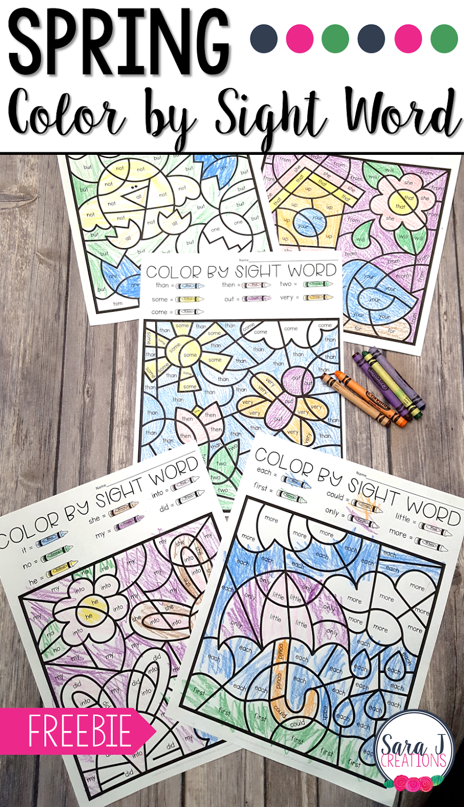spring colorsight word  sara j creations