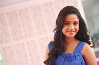 Divya Nandini stunning Beauty in blue Dress at Trendz Exhibition Launch ~  Celebrities Galleries 059.JPG