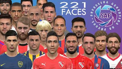 PES 2017 Megafacepack SAF Super Liga Argentina by DanielValencia_EA