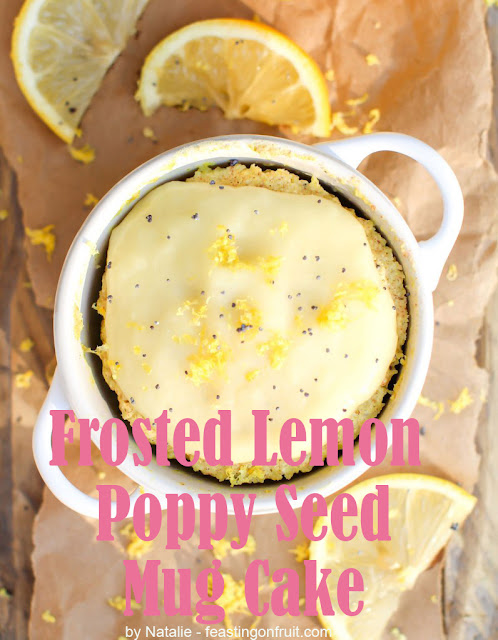 Frosted Lemon Poppy Seed Mug Cake