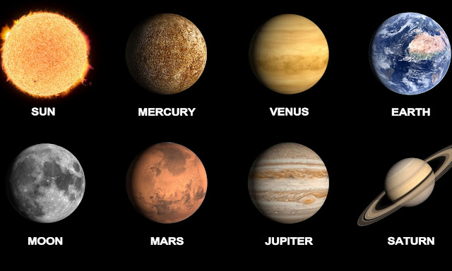 """""""Planetas"""" segundo a concepção artística da NASA"""