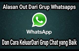 Alasan member keluar grup whatsapps dan cara keluar grup chat yang baik