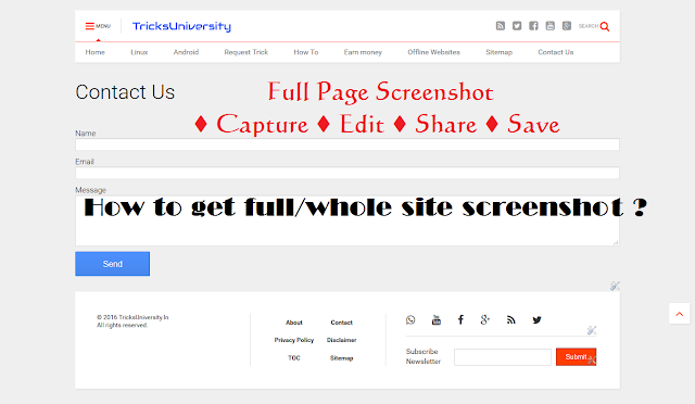 How to get full/whole site screenshot [2016]