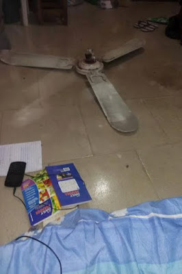 Final Year Uniuyo Student Escaped Death As Ceiling Fan Falls