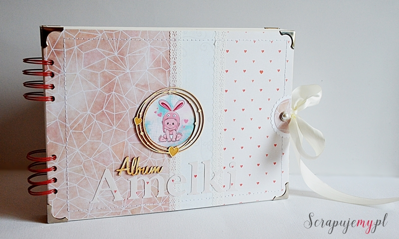 Album różowy, album dla dziewczynki, album na prezent dla dziecka