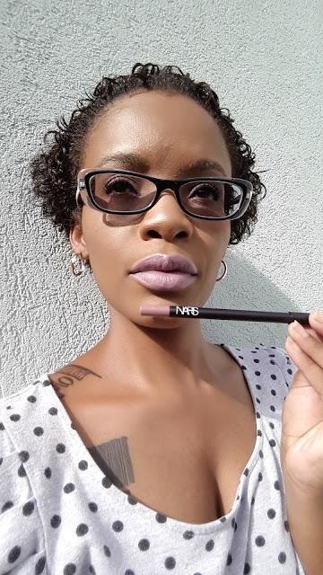 NARS Cosmetics 'Dominique' Audacious Lipstick and 'El Aqua' Velvet Lip Liner - www.modenmakeup.com