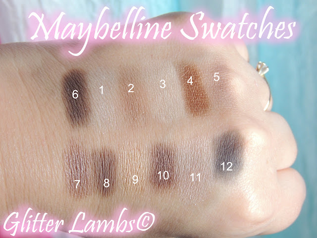 "Maybelline ""The Nudes"" Eyeshadow Makeup Palette Swatch Review by Glitter Lambs"