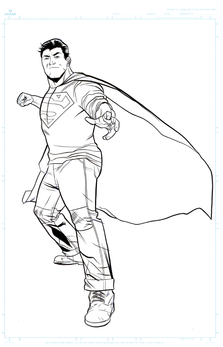 New 52 Superman Coloring Pages Coloring Pages