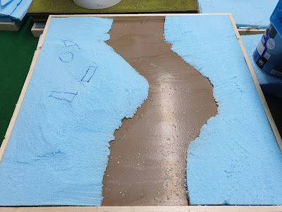 One of the river boards now sculpted