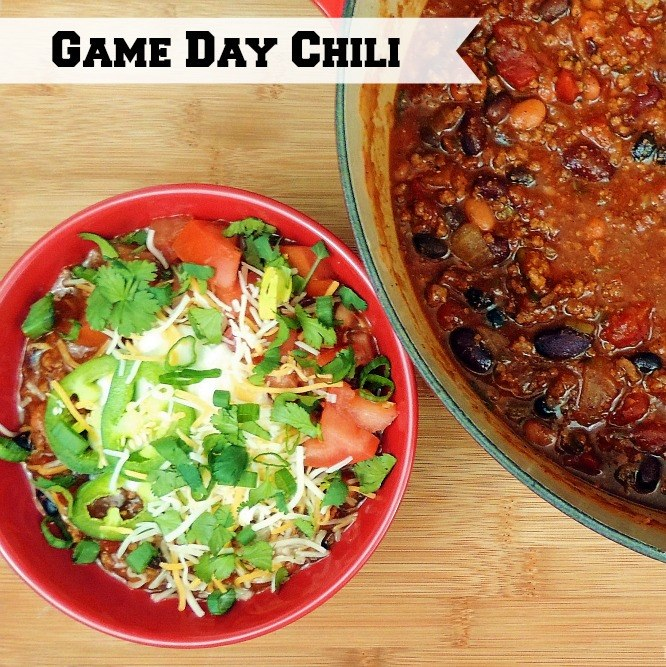 This chili is easy to make and is the perfect dish for your tailgating or home-gating get-together. From www.bobbiskozykitchen.com