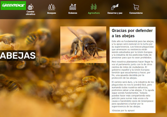 Ir a la página de GreenPeace en defensa de las abejas