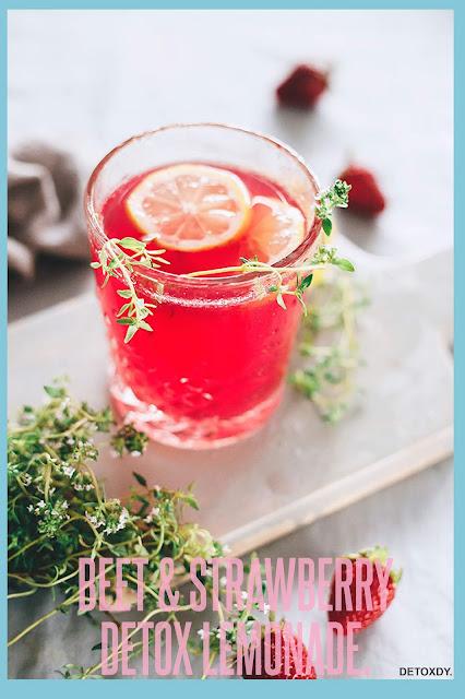 Beet And Strawberry Detox Lemonade.