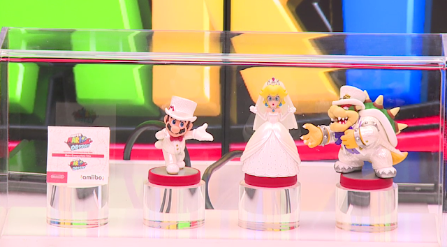 Super Mario Odyssey amiibo dapper wedding Bowser Princess Peach