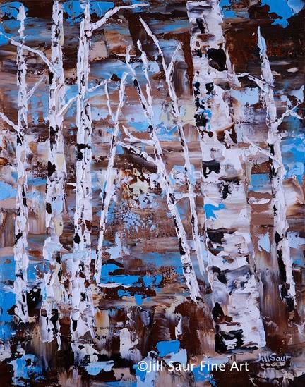 aspen tree painting