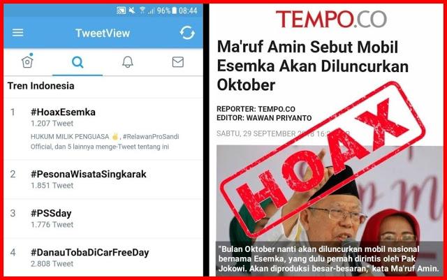 Oktober Tak Juga Diluncurkan, #HoaxEsemka Jadi Trending Topik Sosmed