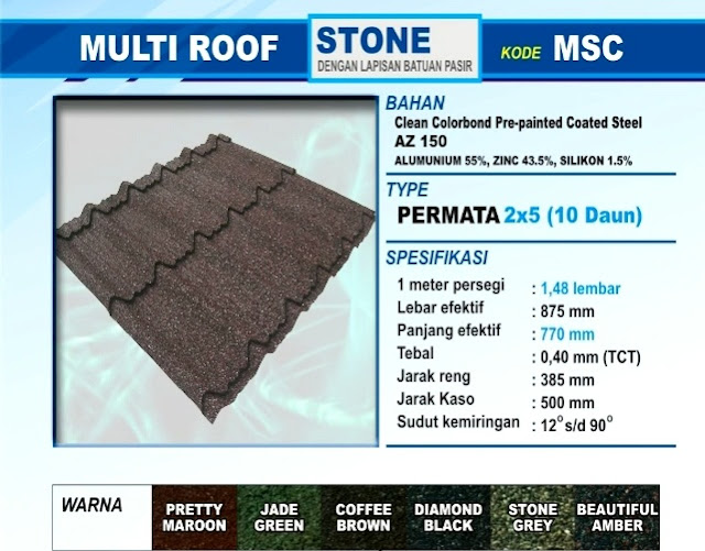 Image Result For Harga Genteng Metal Multiroof