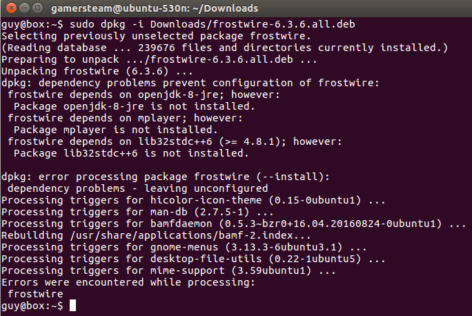 Linux + GNU = Humans Enabled: HowTo: Frostwire install on Ubuntu