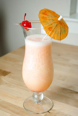 banana pineapple colada, coconut rum, malibu rum, banana liqueur, banana puree, pineapple juice