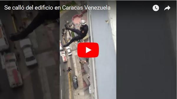 Ladrón de edificios se cae desde lo más alto mientras era rescatado