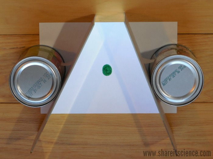 Share it science exploring reflections creating 4 leaf for Small stand up mirror