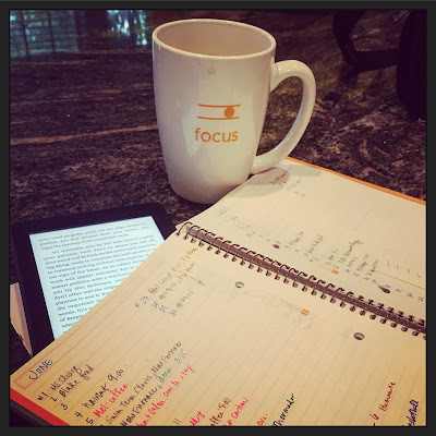 focus, reading and writing, to-do list