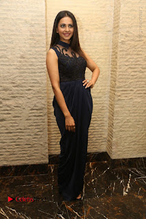 Actress Rakul Preet Singh Stills in Beautiful Blue Long Dress at Dhruva Salute to Audience Event  0101.JPG
