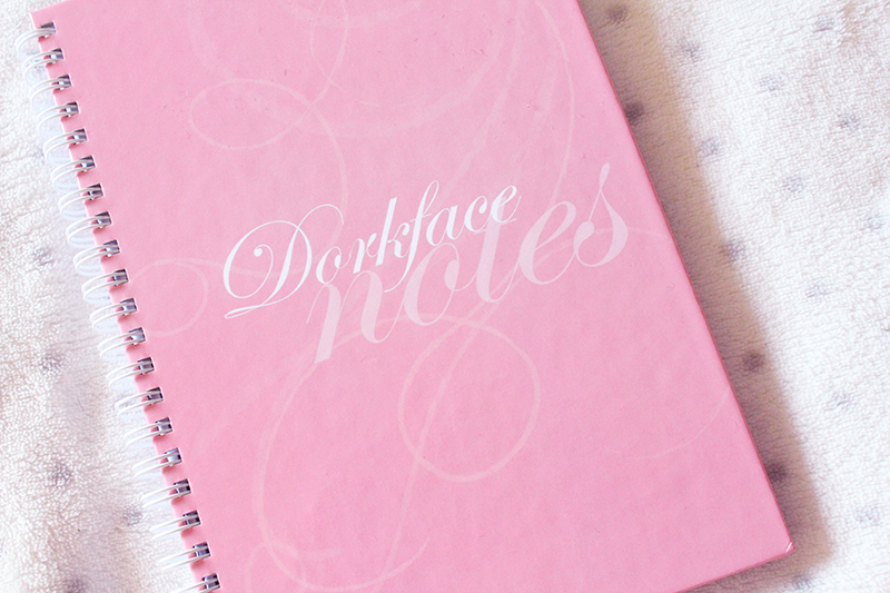 personalised notebook pink girly