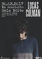 Concierto de Lucas Colman en Boite Live