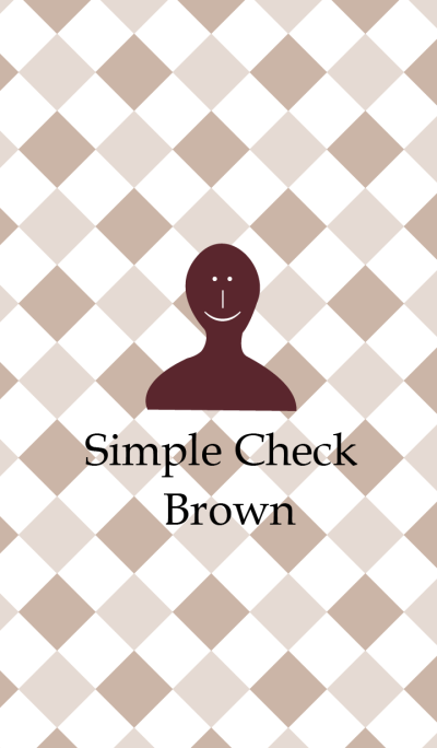 Simple Check Brown