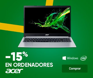 Top 5 ofertas -15% ordenadores Acer de Fnac.es