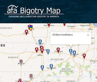 American Family Association Bigotry Map with O'Fallon Freethinkers