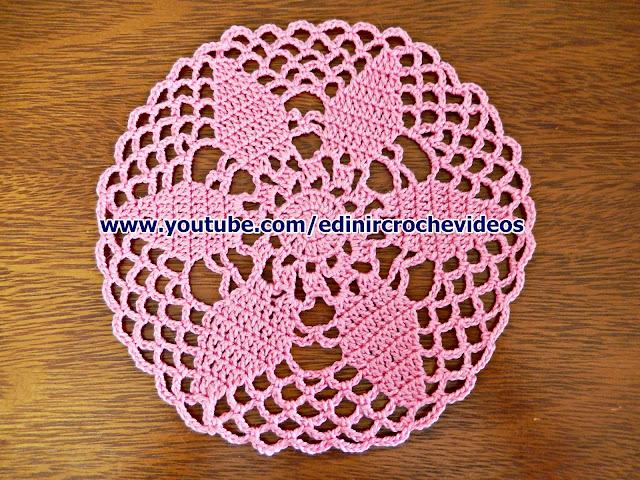 Edinir-Croche ensina toalhinha caminhos tapetes em croche