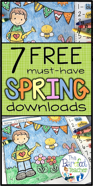 I found 7 FREE spring downloads to use with your Kindergarten class. These activities are a perfect addition to the other lessons, ideas, and crafts you have planned this season for your kids! #spring #freedownloads #springactivities