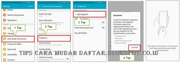 Cara Mengaktifkan Fingerprint Pada Samsung Galaxy S6 dan S6 Edge