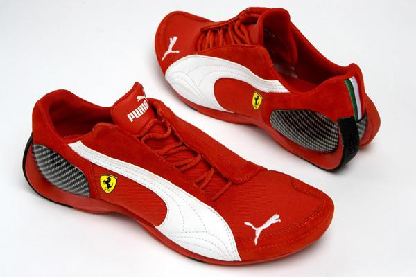 Black And Red Puma Ferrari Shoes