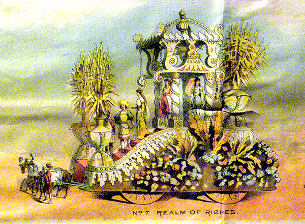 Watercolor Design for Realm of Riches float