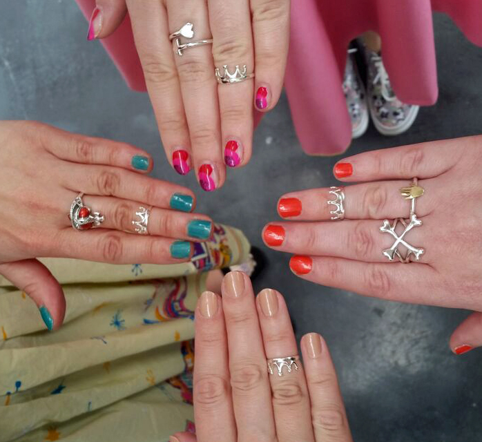 girl gang, Scottish Bloggers, Bloody Mary Metal, BMM, BMM giveaway, Dolly Midi rings, BFF rings, BFF jewellery, midi ring, crown ring, colourful nail varnish