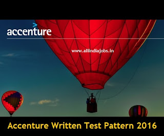 Accenture Test Pattern 2016