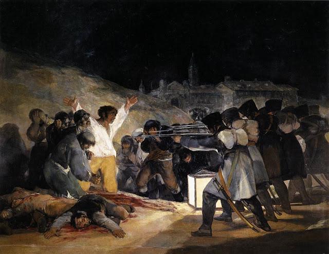 Resultado de imagen de goya fusilamientos del 3 de mayo comentario