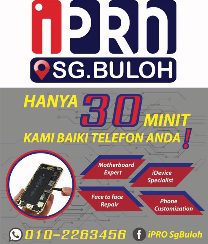 Kedai Repair Kerosakan iPhone Rawang Sungai Buloh Damansara