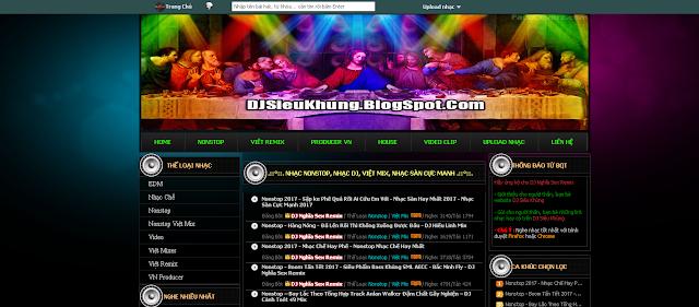 Share Template Blog DJ 2017 Siêu Đẹp Load Nhanh