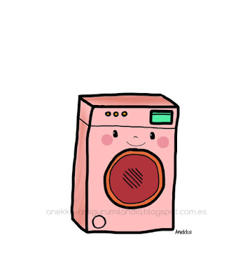 pink wash machine illustration